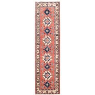 Herat Oriental Afghan Hand-knotted Vegetable Dye Tribal Kazak Wool Runner (2'8 x 10'1)