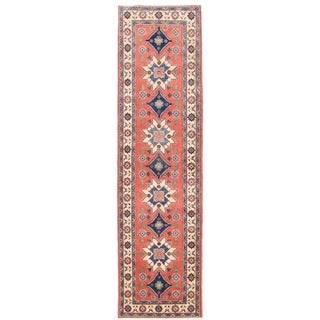 Herat Oriental Afghan Hand-knotted Vegetable Dye Tribal Kazak Wool Runner (2'8 x 10'1) - 2'8 x 10'1