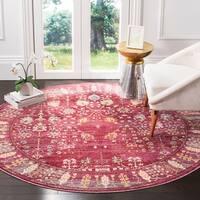 Safavieh Valencia Traditional Distressed Silky Polyester Rug - 6' 7 Round