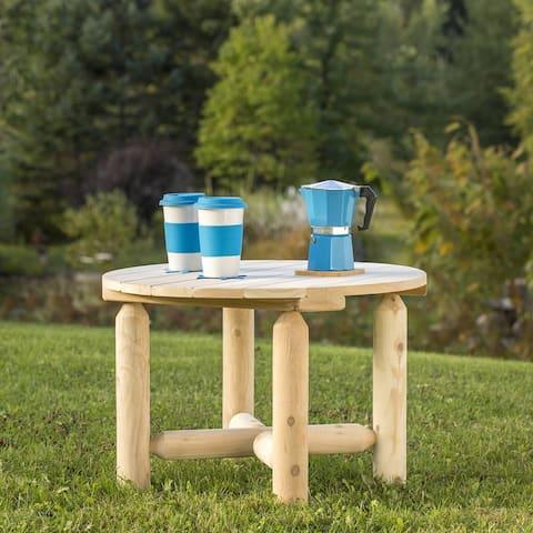 Bestar White Cedar Round Coffee Table