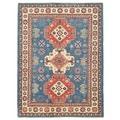 Herat Oriental Afghan Hand-knotted Vegetable Dye Tribal Kazak Wool Rug (5'1 x 6'8)
