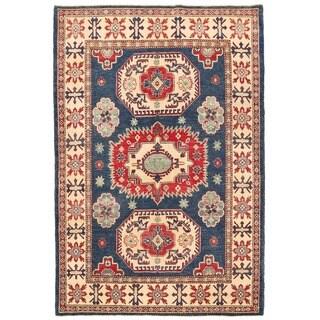 Herat Oriental Afghan Hand-knotted Vegetable Dye Tribal Kazak Wool Rug (4'10 x 7'2)