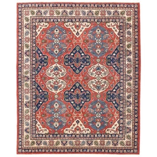 Herat Oriental Afghan Hand-knotted Vegetable Dye Tribal Kazak Wool Rug (8'2 x 10')