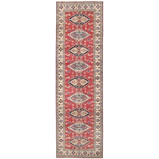 Herat Oriental Afghan Hand-knotted Vegetable Dye Tribal Kazak Wool Runner (4'10 x 16'6)|https://ak1.ostkcdn.com/images/products/14645146/P21183868.jpg?impolicy=medium