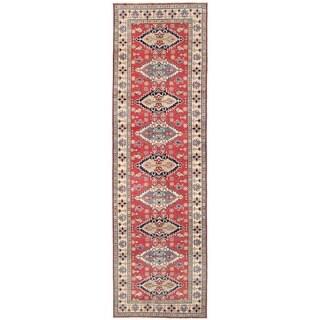 Herat Oriental Afghan Hand-knotted Vegetable Dye Tribal Kazak Wool Runner (4'10 x 16'6) - 4'10 x 16'6