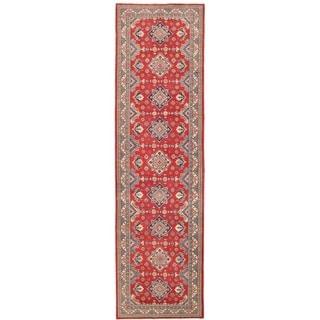 Herat Oriental Afghan Hand-knotted Vegetable Dye Tribal Kazak Wool Runner (4'10 x 17'1)