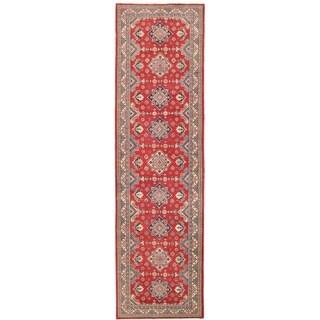 Herat Oriental Afghan Hand-knotted Vegetable Dye Tribal Kazak Wool Runner (4'10 x 17'1) - 4'10 x 17'1