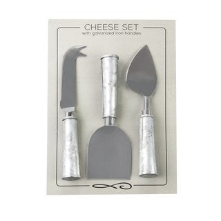 Handmade Stainless Steel and Galvanized Iron Handle Serving Set (India)