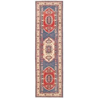 Herat Oriental Afghan Hand-knotted Vegetable Dye Tribal Kazak Wool Runner (5'4 x 19')
