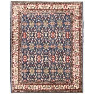 Herat Oriental Afghan Hand-knotted Vegetable Dye Tribal Kazak Wool Rug (7'10 x 9')