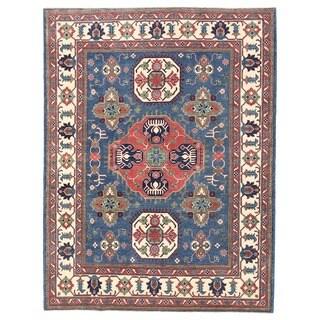 Herat Oriental Afghan Hand-knotted Vegetable Dye Tribal Kazak Wool Rug (8'1 x 10'7)