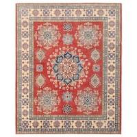 Herat Oriental Afghan Hand-knotted Vegetable Dye Tribal Kazak Wool Rug (8'2 x 10'2)