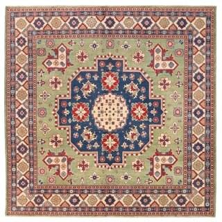 Herat Oriental Afghan Hand-knotted Vegetable Dye Tribal Kazak Wool Rug (9'9 x 9'9)