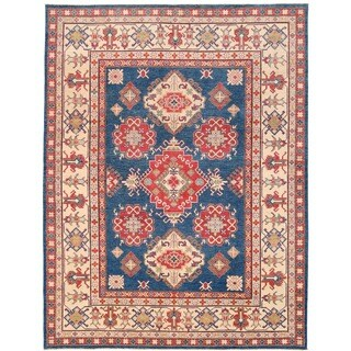 Herat Oriental Afghan Hand-knotted Vegetable Dye Tribal Kazak Wool Rug (9' x 11'10)
