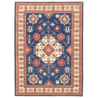 Herat Oriental Afghan Hand-knotted Vegetable Dye Tribal Kazak Wool Rug (8'9 x 12'3)