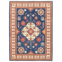 Herat Oriental Afghan Hand-knotted Vegetable Dye Tribal Kazak Wool Rug (8'9 x 12'3)