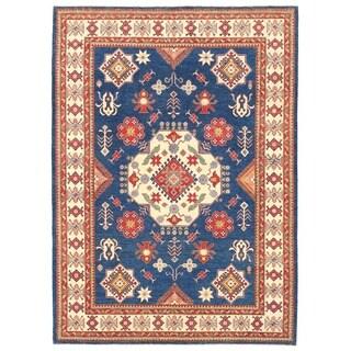 Handmade Herat Oriental Afghan Vegetable Dye Tribal Kazak Wool Rug - 8'9 x 12'3 (Afghanistan)