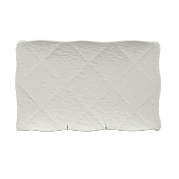Melamine Martello Platter, 19 inch x 11.5 inch Rect-White