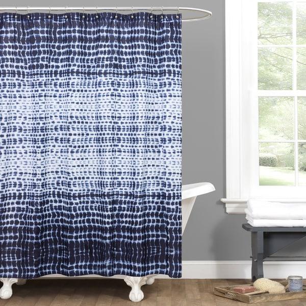 Lush Decor Arney Tie Dye Shower Curtain