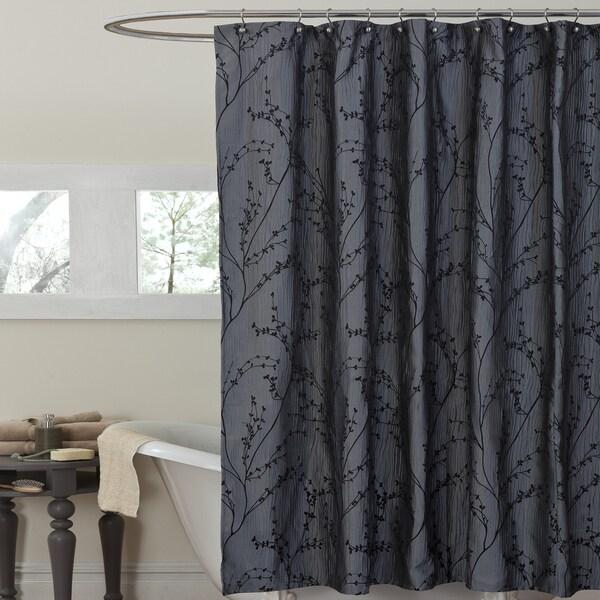 Lush Decor Floral Texture Shower Curtain