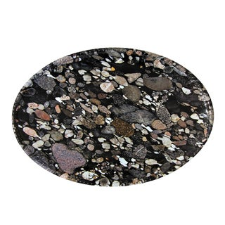 Handmade Melamine Minerals Granite Platter(20 inch x14 inch),Oval (Philippines)