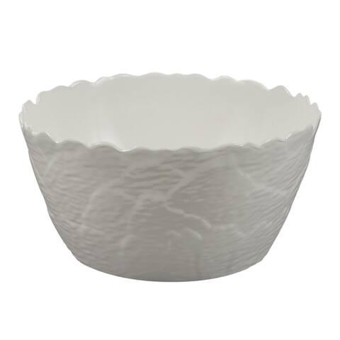 Melamine Martello Artichoke Serving Bowl, 12.5 inch x 6.5 inch Rnd-Wh