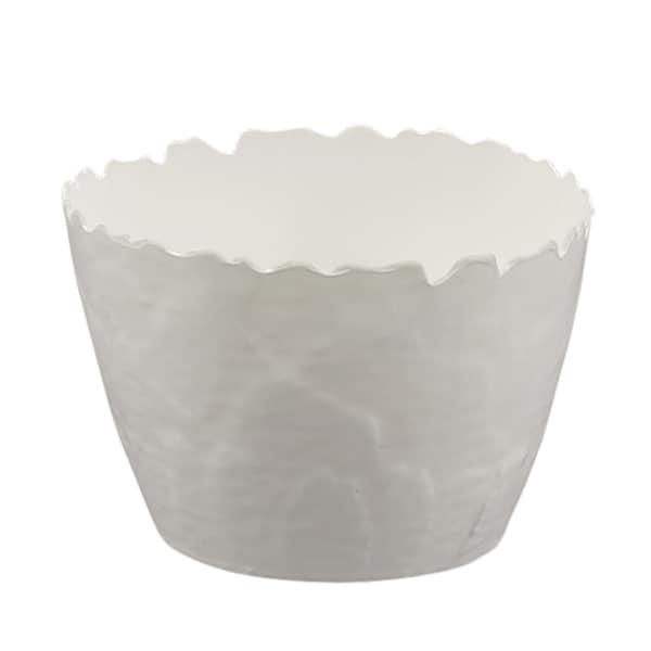 Melamine Martello Artichoke Dip Bowl, 6 inch x 4 inch Round-White