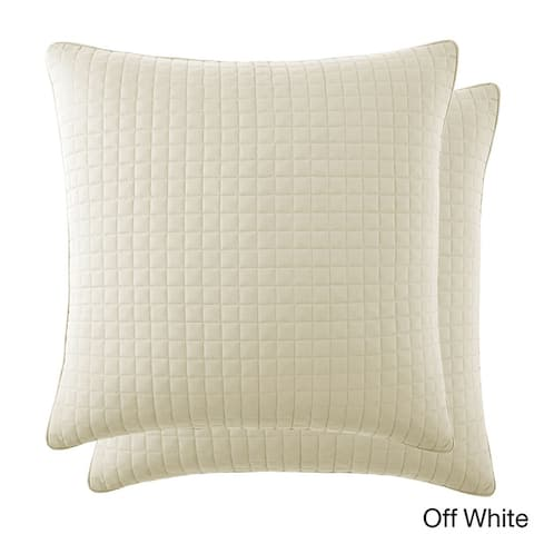 Beautiful Square Stitched Quilted Shams Covers (Set of 2) by Southshore Fine Linens