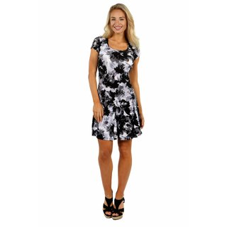 24/7 Comfort Apparel Shadow Flower Dress