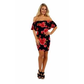 24/7 Comfort Apparel Rose Meadow Dress (Option: 1x)