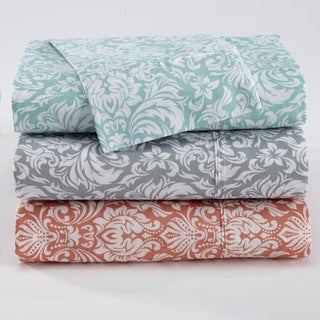 Home Fashion Designs Sinclair Collection Printed 300 Thread Count Cotton Rich Sheet Set