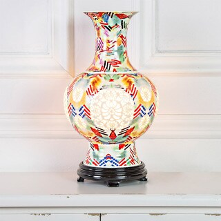 River of Goods Poetic Wanderlust by Tracy Porter Signature Roxy Foxy Print Ceramic Vase Table Lamp