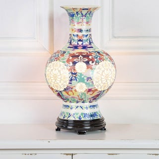 River of Goods Poetic Wanderlust by Tracy Porter Nights in Budapest Signature Print Ceramic Vase Table Lamp