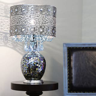 Poetic Wanderlust by Tracy Porter Mattei Jeweled Metal Shade with Mosaic Base Table Lamp|https://ak1.ostkcdn.com/images/products/14645317/P21183986.jpg?impolicy=medium