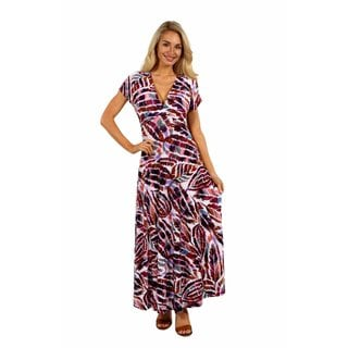 24/7 Comfort Apparel Tigers Eye Maxi Dress