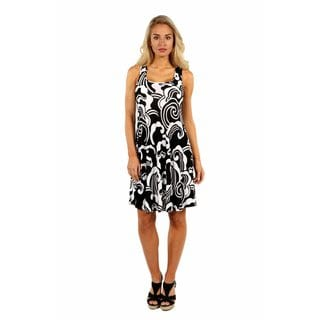 24/7 Comfort Apparel Modern Magic A Line Dress