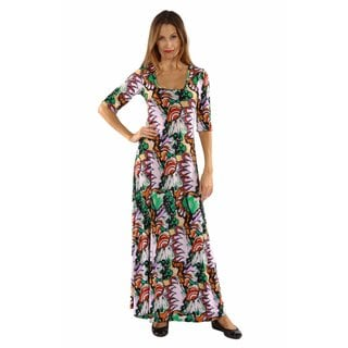 24/7 Comfort Apparel Destination Rio Maxi Dress