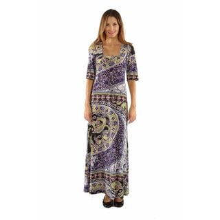 24/7 Comfort Apparel River Jewel Maxi Dress