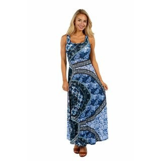 24/7 Comfort Apparel Blue Magic Dress