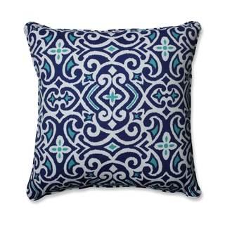 Pillow Perfect Outdoor/ Indoor New Damask Marine 25-inch Floor Pillow
