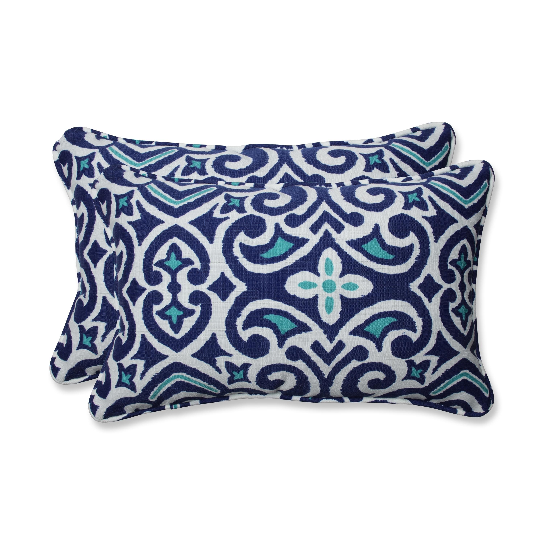 Indoor New Damask Marine Rectangular Throw Pil Pillow Perfect Outdoor 2 Piece