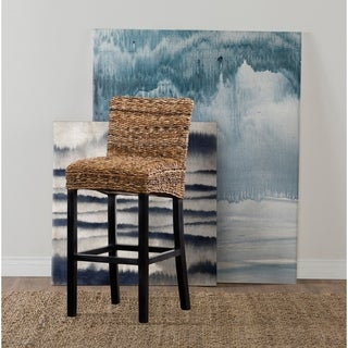 Portman Rattan 30-inch Barstool by Kosas Home