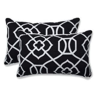 Pillow Perfect Outdoor/ Indoor Kirkland Black Rectangular Throw Pillow (Set of 2) (18.5x11.5x5)