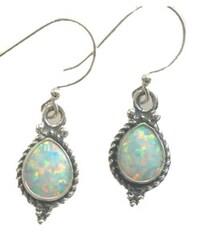 Tear Drop Opal Sterling Silver Earrings India