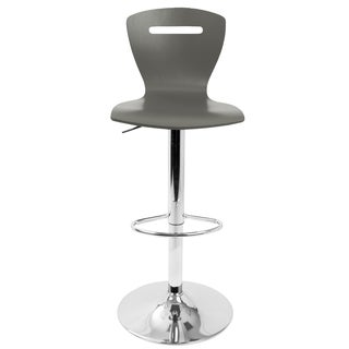 H2 Contemporary Grey Wood Adjustable Barstool
