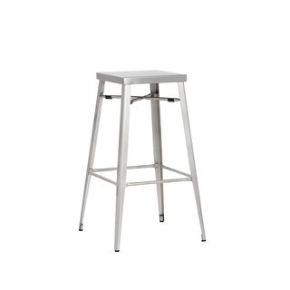 "Sunpan Aaron Silvertone 30"" Stainless Steel Barstool (set of two)"