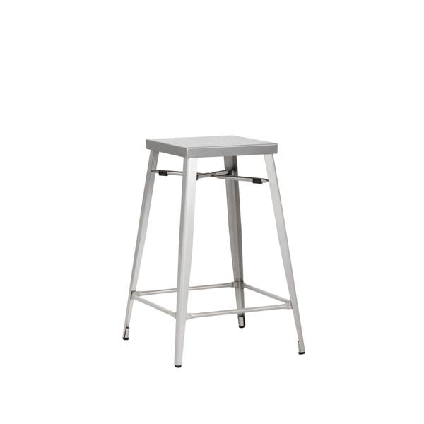 Brilliant Aaron 26 Counter Stool Stainless Steel Bralicious Painted Fabric Chair Ideas Braliciousco
