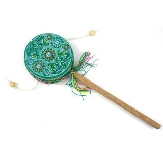 Handmade Damasas Peace Spinner Drum - Jamtown (Peru)