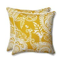Pillow Perfect Outdoor/ Indoor Addie Egg Yolk 18.5-inch Throw Pillow (Set of 2)