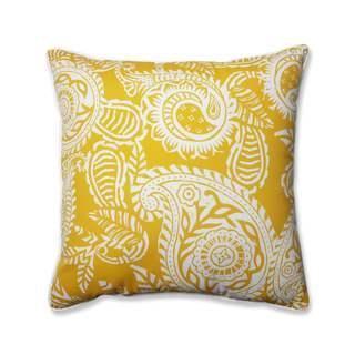 Pillow Perfect Outdoor/ Indoor Addie Egg Yolk 25-inch Floor Pillow